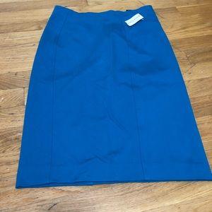 Tag on Ann Taylor aqua pencil skirt